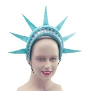 Bristol Novelty Grey Statue Of Liberty Headband. Costume Accessories - Men's - One Size