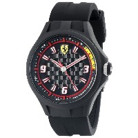 フェラーリ Ferrari Men's 0830005 Pit Crew Black Watch [並行輸入品]