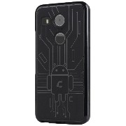 Cruzerlite TPU ケース Bugdroid Circuit Case for Nexus 5X (ブラック) N52015-Circuit-Black