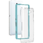 Case-Mate 日本正規品 au Xperia ZL2 SOL25 Hybrid Tough Naked Case, Clear / Turquoise ハイブリッド タフ ネイキッド ケース...