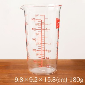 計量カップ500ml耐熱ガラス製電子レンジOKMeasuring cup 500ml / Heat-resistant glass, Microwaveable
