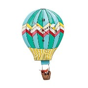 "Allen Designs ""Fox Aloft"" Hot Air Balloon Pendulum Clock by Allen Designs [並行輸入品]"