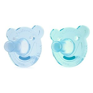 Philips AVENT Bear Shape Pacifier, 0-3ヶ月, 2 Count (ブルー&グリーン)
