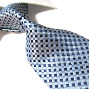 紳士ネクタイ100%シルク Towergem 100% Silk Blue Woven Tie For men Necktie