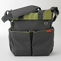 スキップホップ / SKIP HOP Duo Signature diaper bag(種類: CHARCOAL/ LIME) 200304[並行輸入品]
