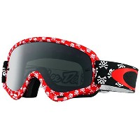 Oakley XS O Frame MX Men's TLD Goggles (Skullbone Red Frame/Dark Grey Lens) [並行輸入品]