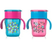 Philips AVENT My Natural Drinking Cup, 9 Ounce, Girl, 2 Count by Philips Avent [並行輸入品]