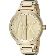 Armani Exchange アルマーニ エクスチェンジ メンズ 時計 腕時計 Men's AX1363 Analog Display Analog Quartz Gold Watch