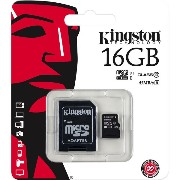 Kingston Digital 16GB microSDHC Class 10 UHS-I 45MB/s Read Card with SD Adapter (SDC10G2/16GB) ...