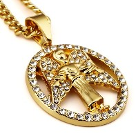 MCSAYS メンズネックレス HipHop 天使 アクセサリー Angel Pendant Necklace Hip Hop Jewelry