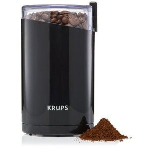 KRUPS F203 Electric Spice and Coffee Grinder with Stainless Steel Blades, 3 ounces, Black by Krups...