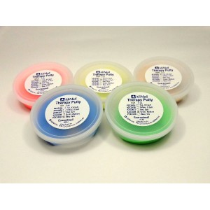 AliMed® セラピーパテ 【 全5色セット - シリコンパテ 2oz】- therapy putty -正規輸入品