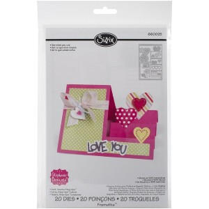 Sizzix Framelits Dies By Stephanie Barnard 20/Pkg-Hearts Step-Up Card (並行輸入品)