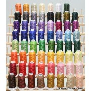 New 63 Brother Colors Embroidery Thread Set 40wt Polyester Threads ThreadNanny Brand by ThreadNanny