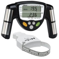 Omron HBF-306C BodyLogic Pro Hand Held Body Fat Monitor Black with MT05 MyoTape Body Tape by Omron ...