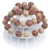 The Smart Baker 3 Tier Round White Cake Pop Stand, Holds 40 Cake Pops As Seen on Shark Tank by The...