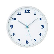 Lemnos Daily clock ホワイト PC09-07 WH