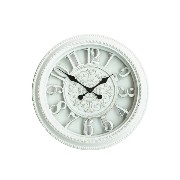 16' Royal White Chevalier Emblem Simulated Wall Clock, Quartz, ABS Glass Front Cover, Antiquity...