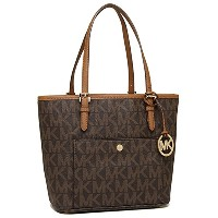 (マイケルコース) MICHAEL KORS バッグ 30T4GTTT6B 200 Jet Set Item MK SIG PVC MD SNAP POCKET TOTE トートバッグ BROWN...