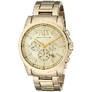 Armani Exchange アルマーニ エクスチェンジ メンズ 時計 腕時計 Men's AX2099 Analog Display Analog Quartz Gold Watch