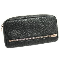 アレキサンダーワン 財布 ALEXANDER WANG 703060 001 FUMO CONTINENTAL WALLET 長財布 PEBBLE LEATHER BLACK/ROSE GOLD...