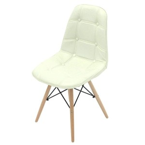 UNE BONNE(ウネボネ) 合成革皮 EAMES CHAIR(イームズチェア) イームズ デザイナーチェア 椅子 ダイニングチェア (組立/PU) ホワイト