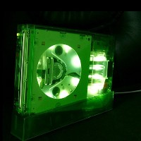 【Dianziオリジナル】(Wii シェル・色:Haloグリーン) ~改造・補修用~ ニンテンドーWii 「ii case (Halo Green with White LED)」 交換用シェル...