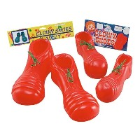 Bristol Novelty Clown Shoes Child Size Red Costume Accessories - Boy's - One Size