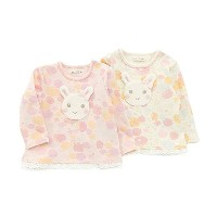 coeur a coeur(クーラクール) 長袖Tシャツ (70~100cm) キムラタンの子供服 (44003-171a) ピンク 80