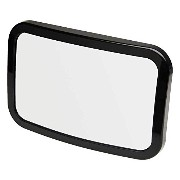 Car Rear Seat Headrest Mount Black Square Large Adjustable Baby Safety Mirror