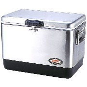 ■COLEMAN 54QT STAINLESS STEEL BELTED COOLER