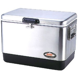 COLEMAN 54QT STAINLESS STEEL BELTED COOLER コールマン クーラーボックス