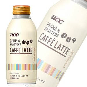 UCC BEANS&ROASTERS CAFFELATTE リキャップ缶375g×24本入