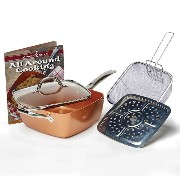 Tristar Products 4 Piece Chef Pan with Glass Lid, Copper [並行輸入品]