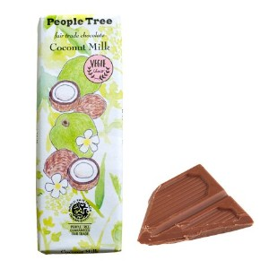 【People Tree】フェアトレード・板チョコレート ココナッツミルク