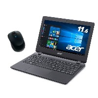 【Acer ノートPC + マイクロソフトマウスセット】【Amazon.co.jp限定】Acer ES1-131-A12N/K Windows 10/11.6インチ + マイクロ...