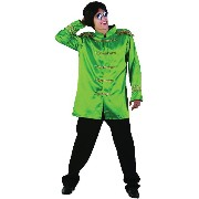 Bristol Novelty Sgt Pepper Jacket Budget. Green. Adult Costume - Men's - One Size