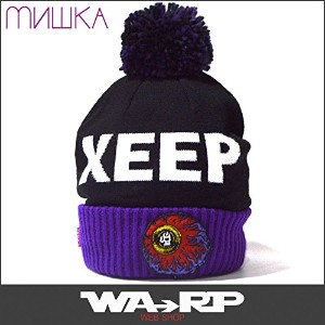 MISHKA ミシカ LAMOUR KEEP WATCH POM BEANIE(BLACK 黒 ブラック)