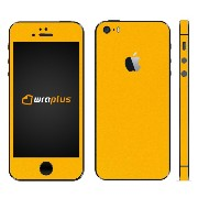 wraplus for iPhoneSE & iPhone5S/5 【イエロー】 スキンシール + 液晶保護フィルム