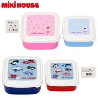 MIKIHOUSE(ミキハウス)リーナ&車 フルーツケースセット(2個セット) ---,チェリーピンク