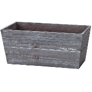 GREEN HOUSE Natural wood planter アイドスクエアL ブラウン 3254-A/BR