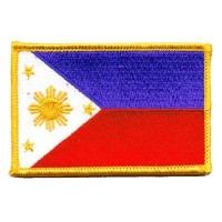 The Flag of PHILIPPINES PATCH, Superior Quality Iron-On / Saw-On Embroidered Patch - Each one is...