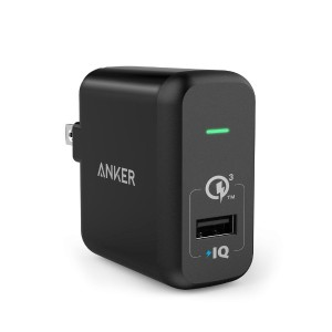 【Quick Charge 3.0対応】 Anker PowerPort+ 1 (Quick Charge 3.0 18W USB急速充電器) Galaxy S6 / Edge / Plus、...