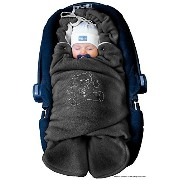 ByBoom? - Swaddling Wrap, Car Seat and Pram Blanket for Winter, Universal for infant and child car...