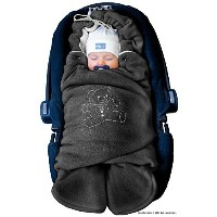 ByBoom? - Swaddling Wrap, Car Seat and Pram Blanket for Winter, Universal for infant and child car seats (e.g. Maxi-Cosi, Britax), for a pushchair/stroller...
