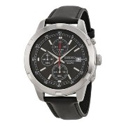 ゴルディア Original Seiko Chronograph Black Dial Black Leather Mens Watch SKS421P2 男性 メンズ 腕時計 【並行輸入品】