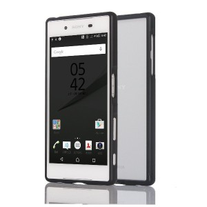 Sony Xperia Z5/ Z5 compact/Z5 Premium ケース Vikooスライドフレームアルミ バンパー カバー ネジなし型 取付け簡単 (Xperia Z5, ブッラク)