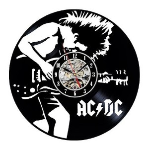 ACDC Vinyl Wall Clock Art Gift Room Modern Home Record Vintage Decoration