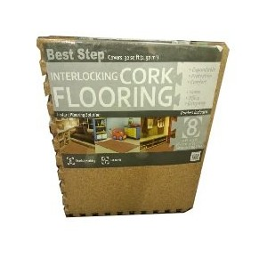 Best Step CORK FLOORING コルク フローリングマット 大判 8枚セット