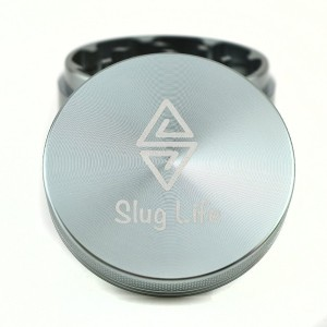 Slug Life Herb Grinder 4 Parts 2.5 Inch with Pollen Catcher (Space Grey)